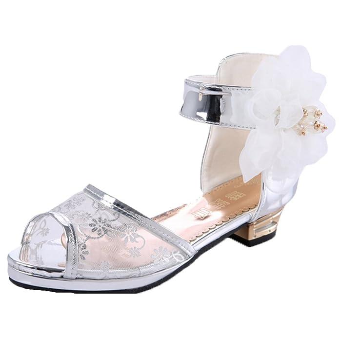OPSUN Sandales à Bride Enfants Filles Chaussure Cérémonie Ballerines à Bout  Ouvert Mariage Escarpin Plat Babies  Amazon.fr  Chaussures et Sacs 1ee17b5c2d2b