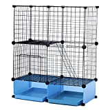 Modular Add-Up Small Cat (Kitten) Small Dog (Puppy) Cage Playpen (Blue Basic)