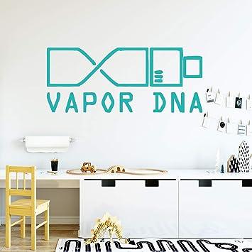 Creativo moderno vapor ADN Biología ciencia Vinilo Etiqueta de la ...