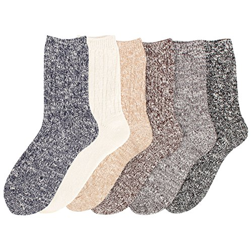 on Warm Crew Quarter Knitted Cotton Winter Socks ()