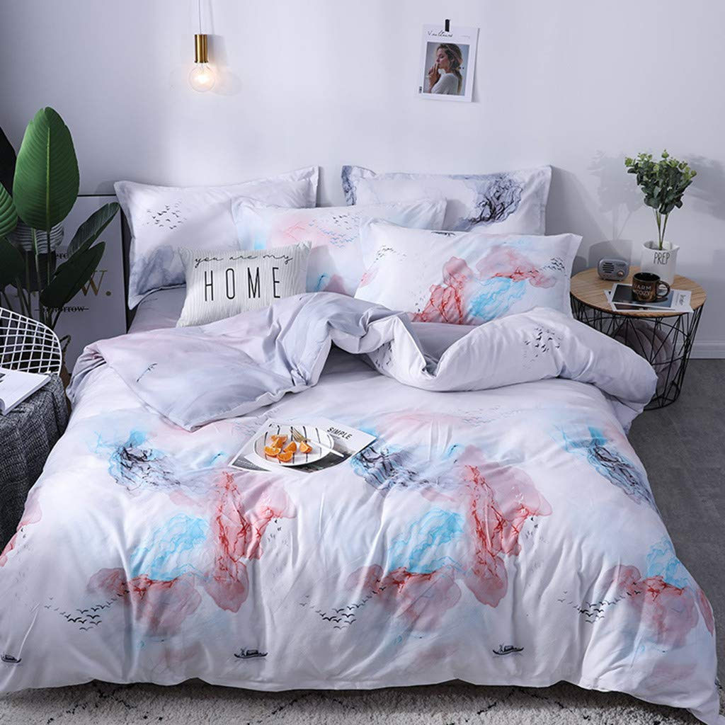 Beyonds Skin-Friendly 3 Piece Bed Set Rustic Deep Pockets Bedding Set Includes x1 Duvet Cover x2 Pillowcases - Soft Polyester Fabric - Home School Bed Decor