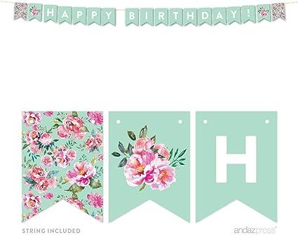 CUSTOM Floral Birthday Set