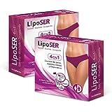 Liposer - 16 sticks - Elimina la grasa acumulada en Abdomen, Caderas. Piernas, Espalda y Brazos - Adelgazante 4 en 1…