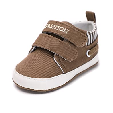 9dc930148e3 QGAKAGO Infant Baby Boy Canvas Dual Strap Soft Sole Casual Shoes (M  4.73  Inch