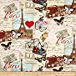 Timeless Treasures 0333526 Paris Collage Fabric by The Yard, Antique