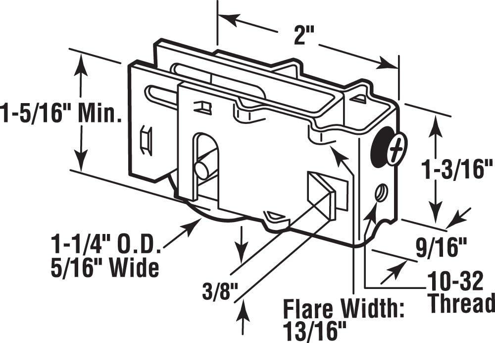 1-1//4-Inch Slide-Co 131449 Sliding Glass Door Roller Assembly