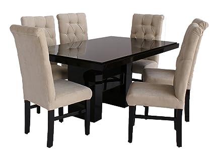 Fabou Comedor San diego - 6 sillas capitonadas, Moderno, color ...