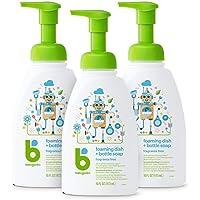 Babyganics - Jabón para botellas y platos de espuma, botella de 16 onzas (paquete de 3), Cítrico, 1,41L