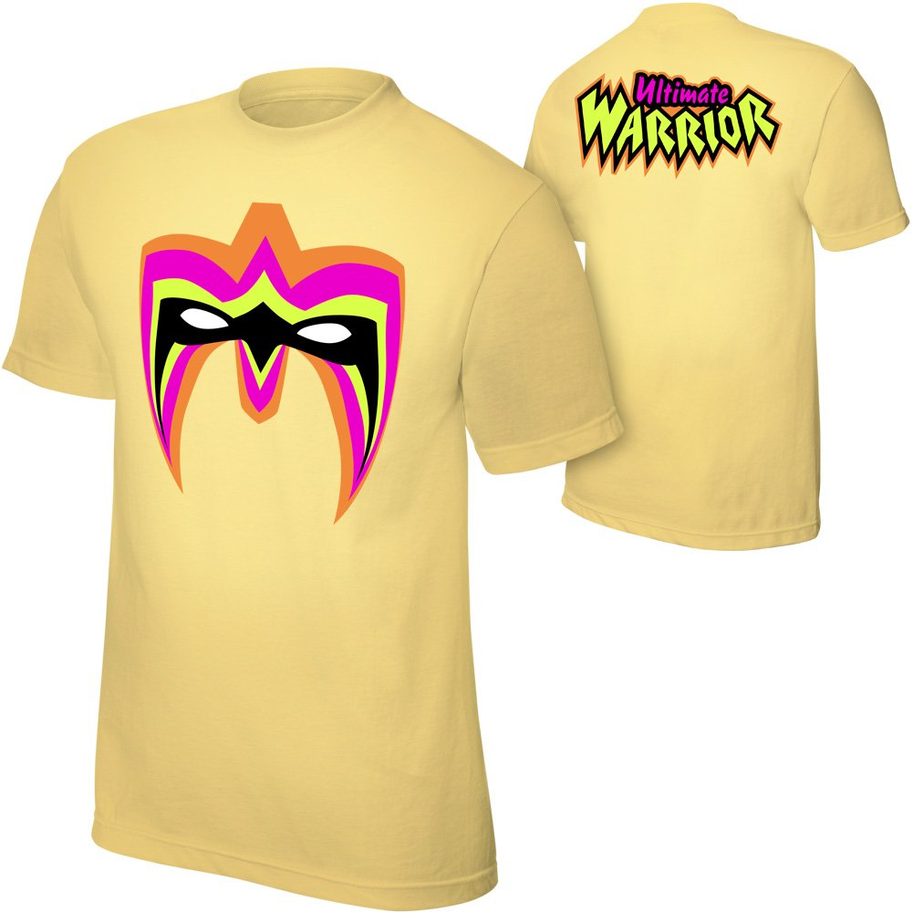The Ultimate Warrior ''Parts Unknown'' Yellow T-Shirt, 3XL [Apparel] by Official WWEShop Authentic