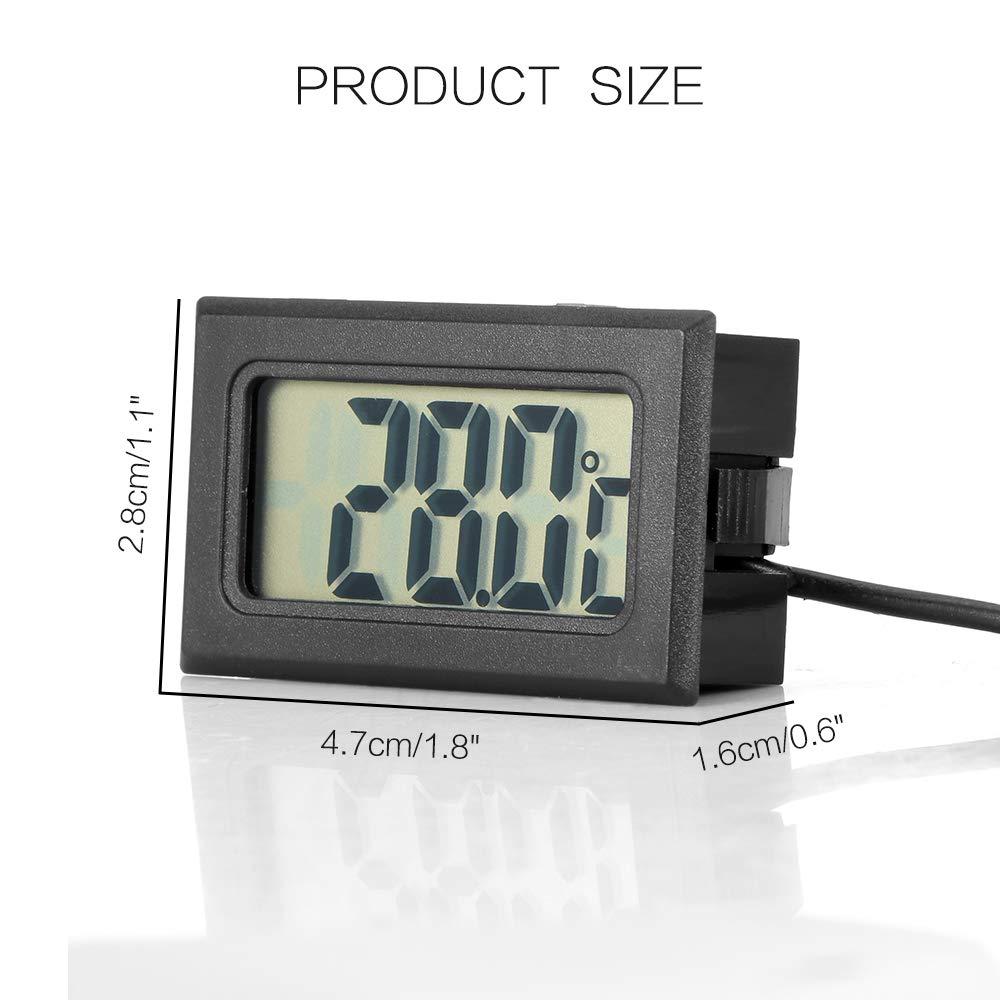 HITECHLIFE Termometro Digitale per Auto Sonda Impermeabile Grande Schermo LCD Celsius Strumenti di MisuRazione della Temperatura Interna ed Esterna