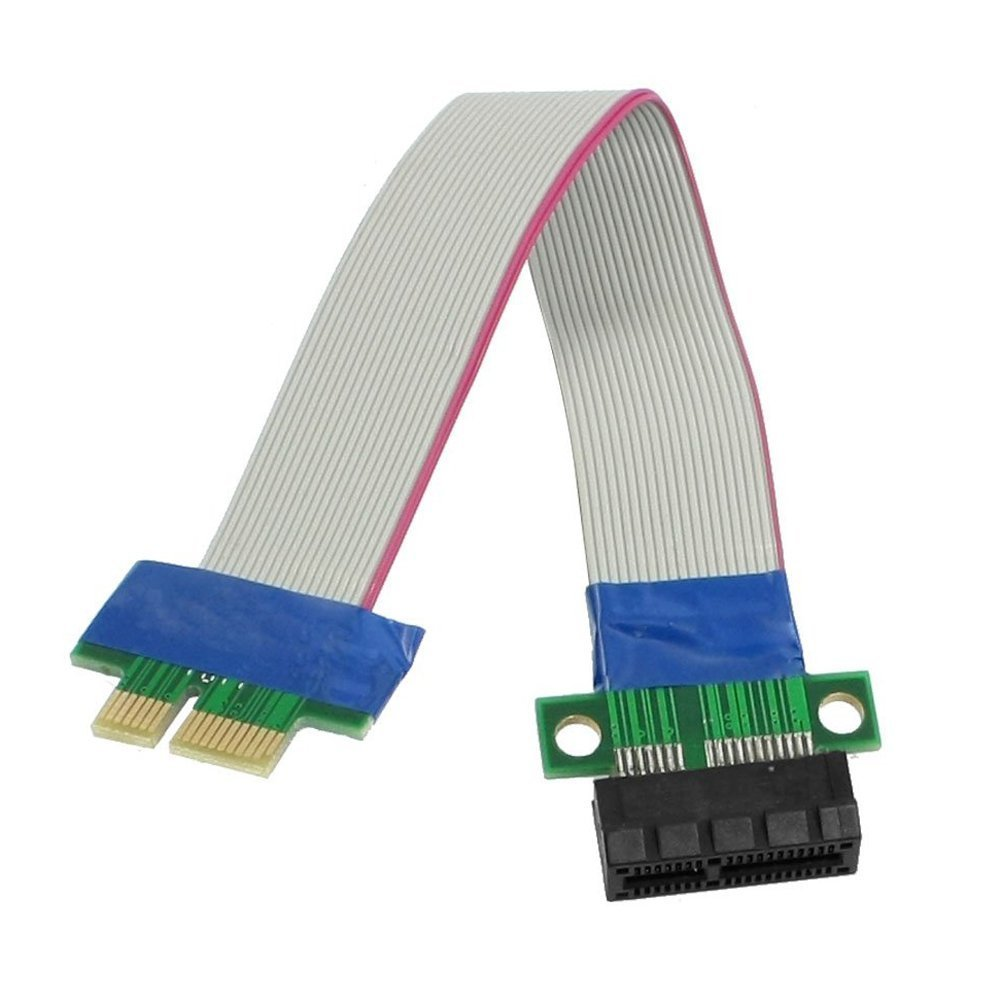 WINGONEER PCI-Express PCI-E 1X Card Riser Flex Extender Câ ble d'extension pour PC
