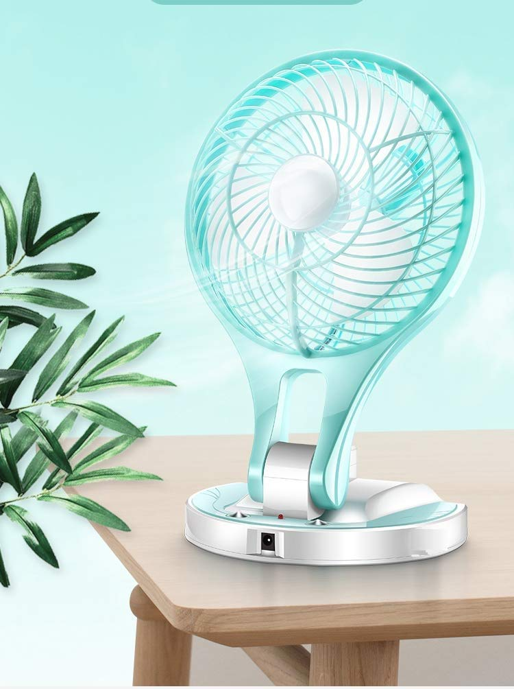 MICMAC HT-5580 New Model Powerful Rechargeable Table Fan With 21Smd Led Lights (Random Color) product image