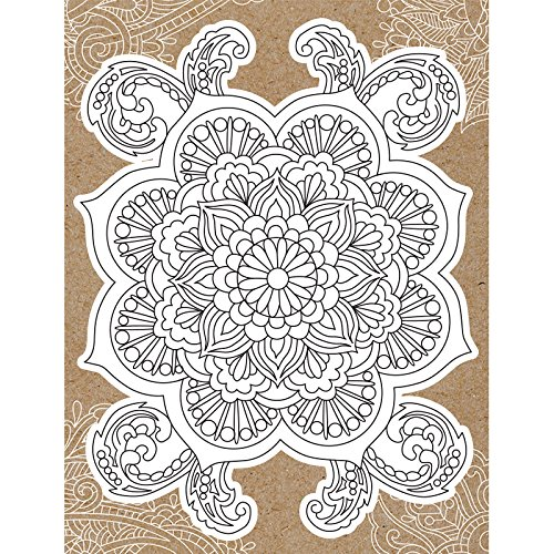 Diecuting Coloreing Card W   5.25 X7.25 Busta-Mandala