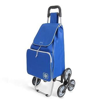 Metaltex Peony - Carro de Compra con 6 Ruedas, 48 Litros, Azul