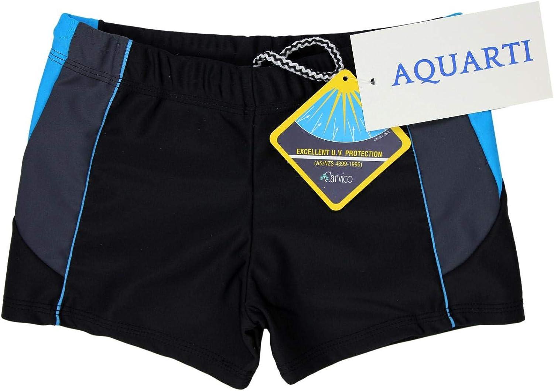 Aquarti Jungen Kurze Badehose mit Eins/ätze Seitlich