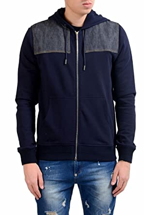 821978c289d9 Dior Christian Men s Blue Fleece Full Zip Hoodie Size US M IT 50 at ...