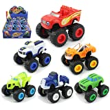 BEYOND MS 6 Pack Nickelodeon Blaze & The Monster Machines, Monster Machines Toys Scooters Car Crusher Truck Vehicles - Toys Gifts for Kids