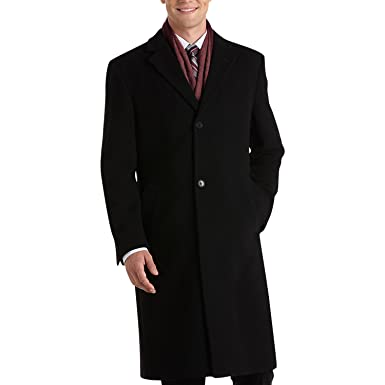 07f398e2b83 RALPH LAUREN Lauren Men s Topcoat Wool Blend Columbia Overcoat - Black - 36S