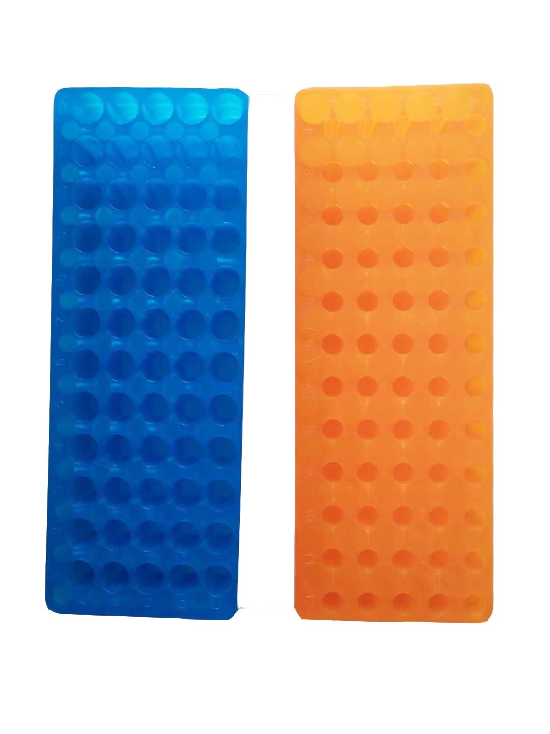 Orange/bleu Tube Rack double panneau 60  positions Polypropylè ne pour Microcentrifuge tubes 0, 5/1.5ml (lot de 2) Muhwa eCommerce Co. Ltd