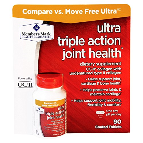 Free Coated Tablets - Member's Mark Ultra Triple Action Joint Health, 90 Coated Tablets