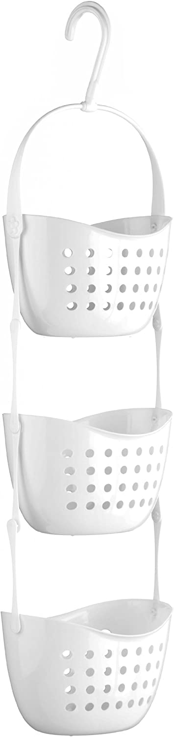 Premier Housewares 3-Tier Shower Caddy - White
