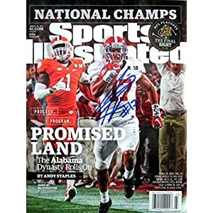 Kenyan Drake ALABAMA ROLL TIDE autographed Sports Illustrated magazine 1/18/16