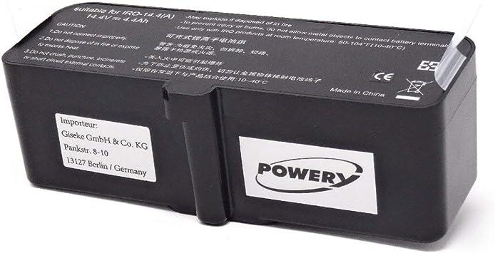 Powery Batería para Robot Aspirador iRobot Roomba 960: Amazon ...