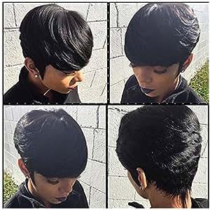 Hair Short Extension Weave 3 Pcs Tissage Bresilienne Color #2 : Beauty