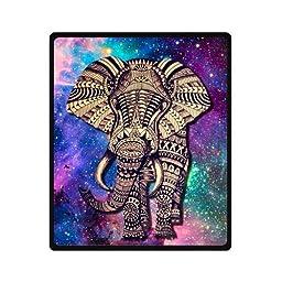 Galaxy Nebula Elephant Touch Heart Super Soft Fleece Blanket 50\
