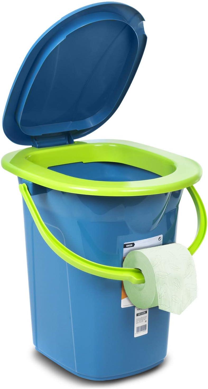 Green Blue GB320 Campingtoilette 19L Mobile Toiletteneimer Reisetoilette Toilette Eimertoilette Mobil Camping