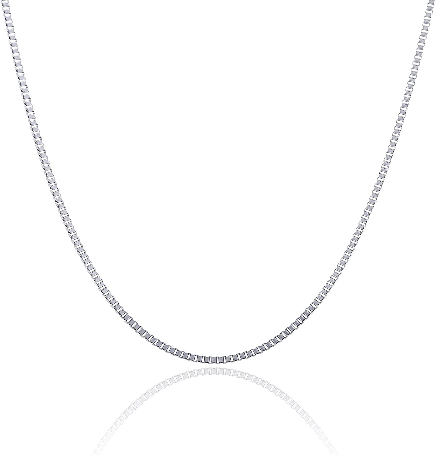 """Pick Fashion 2-7mm 316L Stainless Steel Box Chain Links Necklace 20/""""-24/"""" Unisxe"""