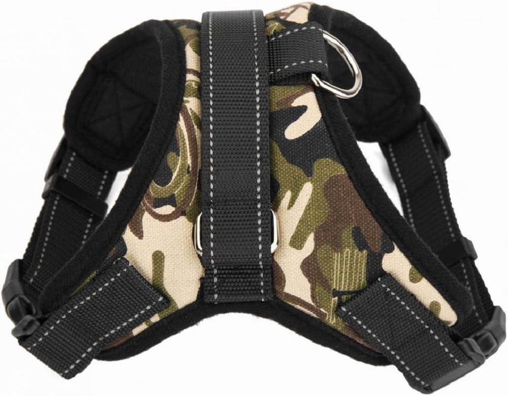 Noir XL HoneyHome Haute Qualit/é Harnais Chien R/églable harnais pour Grand Gros Moyen Chien Accessoires Kit Confortable