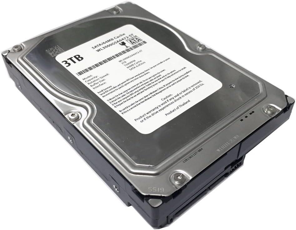 "WL 3TB 7200RPM 64MB Cache SATA 6.0Gb/s 3.5"" Desktop Hard Drive (For Server, RAID, NAS, DVR, Desktop PC) w/1 Year Warranty"