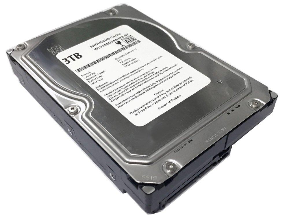 WL 3TB 7200RPM 64MB Cache SATA 6.0Gb/s 3.5' Desktop Hard Drive (For Server, RAID, NAS, DVR, Desktop PC) w/1 Year Warranty Generic LYSB00OS8YP9M-ELECTRNCS
