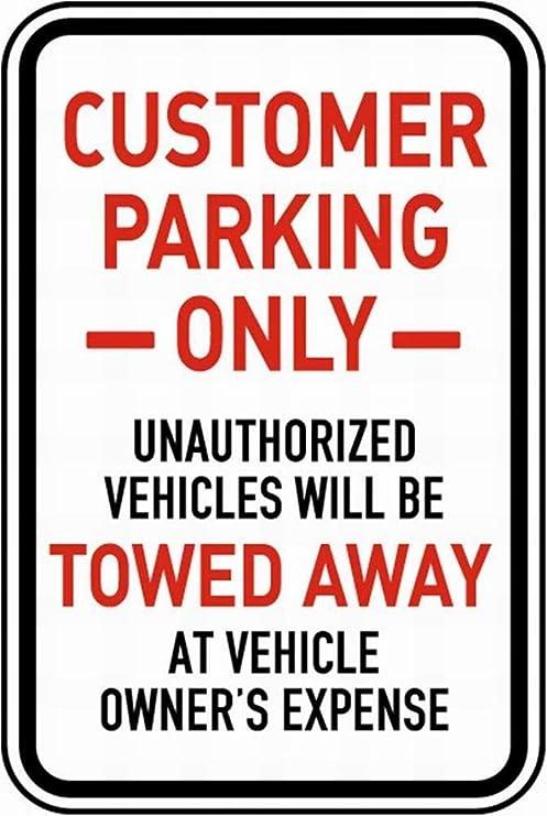 SALWON Customer Parking Only -Cartel De Chapa Advertencia ...