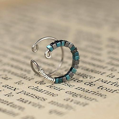 bdadd57a086 Bague d oreille helix en titane - Anneaux de cartilage pour oreille non  percée -
