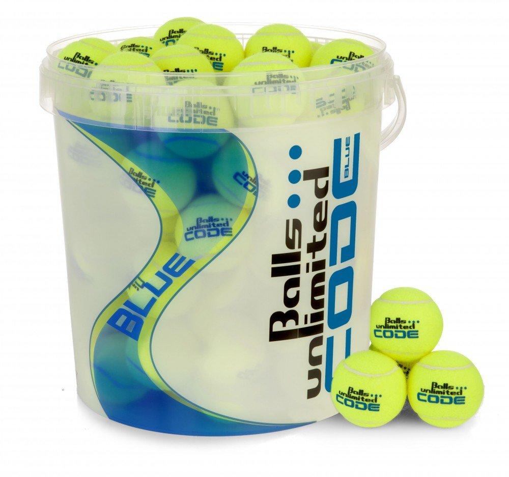 Balls ... unlimited Balleimer Code Blue mit Deckel und Henkel fü r 60 Tennisbä lle