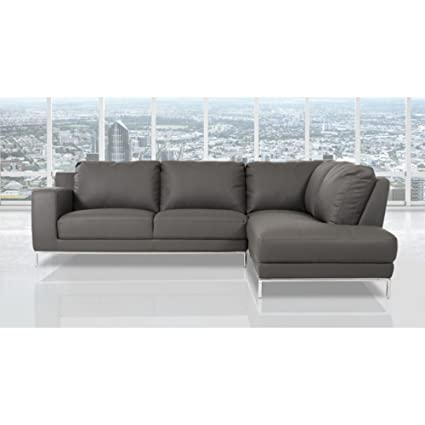 Amazon.com: Divani Casa Primrose Modern Eco-Leather Sectional Sofa ...