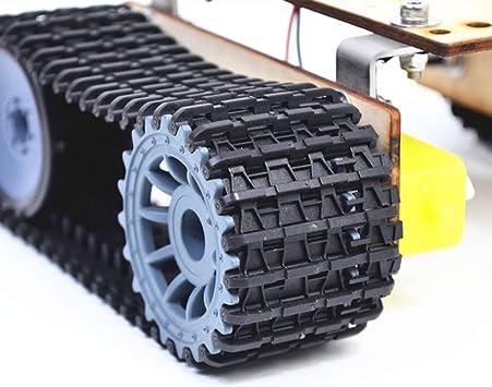Hellery Telaio per Auto RC Telaio per RC Telaio per Robot Serbatoio A Doppia unit/à Fai-da-Te per Accessori per Auto Giocattolo Cingolato per Auto RC