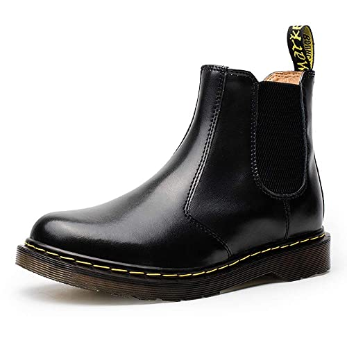 7c829ee97ad MARITONY Chelsea Boots for Women, Dress Fashion Winter Fur Lined Work  Combat Waterproof Leather Ankle Chukka Booties for Men