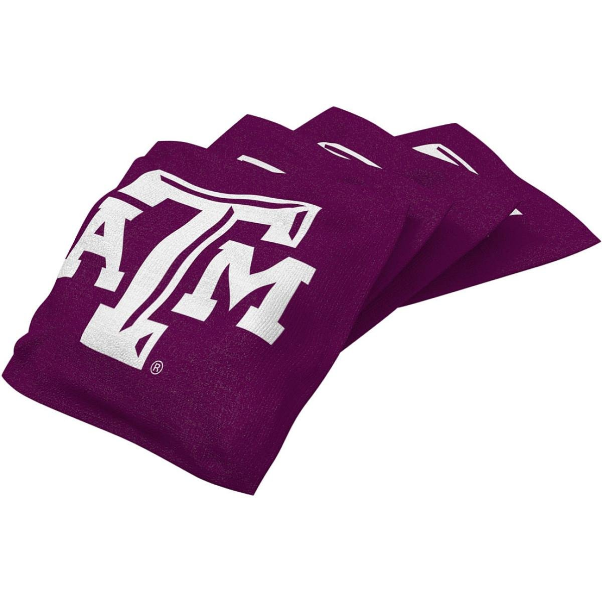 Wild Sports NCAA College Texas A&M Aggies Red Authentic Cornhole Bean Bag Set (4 Pack) by Wild Sports (Image #1)