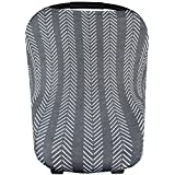 """Baby Car Seat Cover Canopy and Nursing Cover Multi-Use Stretchy 5 in 1 Gift """"Canyon"""" by Copper Pearl"""