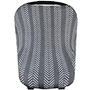 Baby Car Seat Cover Canopy and Nursing Cover Multi-Use Stretchy 5 in 1 Gift  Canyon  by Copper Pearl