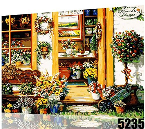 WWSEVEN DIY Beautiful Scenery Oil Painting, Paint By Number Kit For Home Decoration And Gift 16X20 Inch