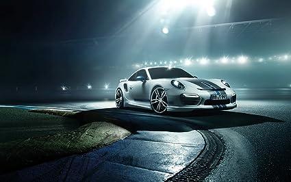2014 Techart Porsche 911 Turbo 12X18 Metal Wall Art