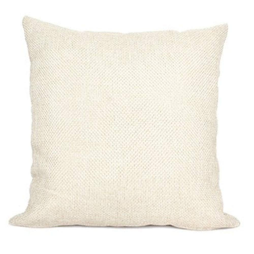 FASTCXV Simple and Modern Home Cotton Pillows Pure Color Fashion Living Room Sofa Lumbar Pillows Beige 4545cm by FASTCXV