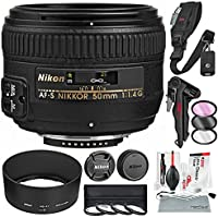 Nikon AF-S NIKKOR 50mm f/1.4G Lens and Deluxe Bundle with Xpix Cleaning Accessories + Lens Filters + More