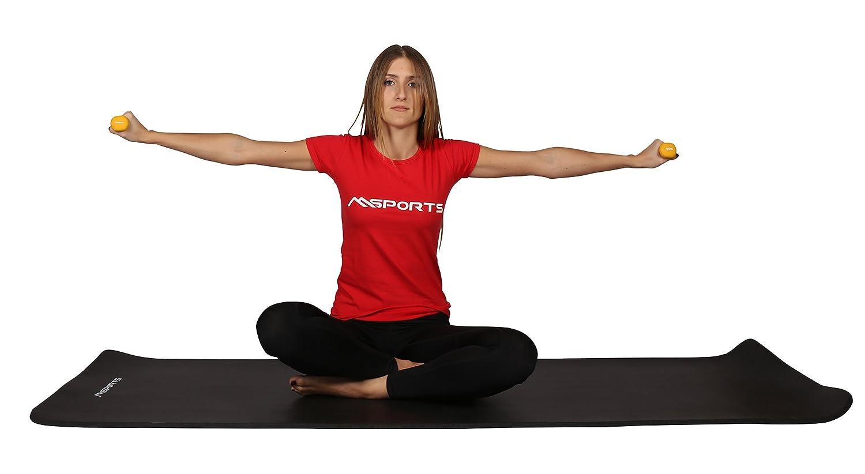 Juego de 2 mancuernas de 0,5 a 5 kg de neopreno, incluye póster de ejercicios, 0,5 kg - Gelb: Amazon.es: Deportes y aire libre