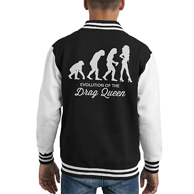 Coto7 Evolution of The Drag Queen Kids Varsity Jacket ...