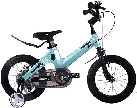 """K-G Bicicleta Infantil Niño Bicicleta de Entrenamiento de 2-11 años, los niños de Bicicletas con Frenos de Disco Auxiliar Ruedas y, en tamaño 12"""", 14"""", 16"""", 18"""" (Color : Blue, Size :"""